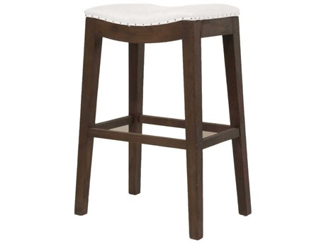 Essentials for Living Bisque / Rustic Java Side Bar Height Stool
