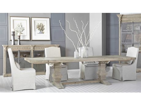 Essentials for Living Bella Antique Dining Room Set ESL8040SGRYPNESET