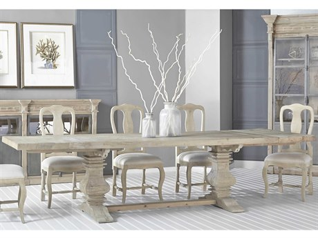 Essentials for Living Bella Antique Smoke Gray 84-120'' Wide Rectangular Dining Table