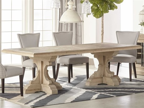 Essentials for Living Bella Antique Smoke Gray 98'' Wide Rectangular Dining Table