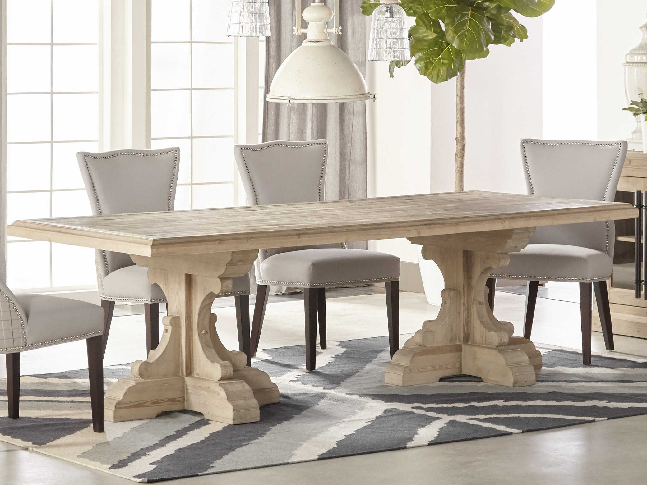 Wide Rectangular Dining Table, Antique Dining Room Table