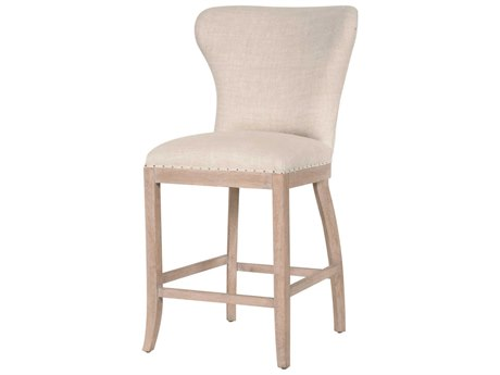Essentials for Living Bisque French Linen / Stone Wash Side Counter Height Stool