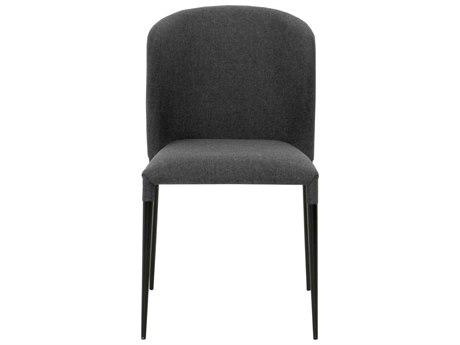 Essential For Living Meridian Dason Matte Black Charcoal Dining Side Chair (Set of 4) ESL1610CHRCLMBLK