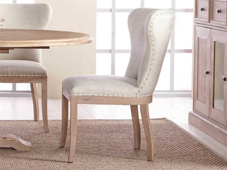 Essentials for Living Bisque French Linen / Stone Wash Side Dining Chair (Set of 2)