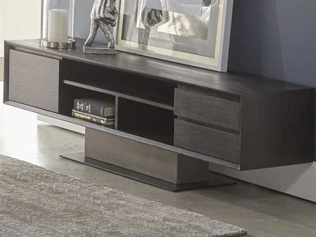 Essential For Living District Espresso/ Slate Grey/ Matte Black TV Stand ESL4605SLAGRYESP