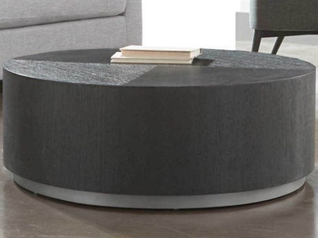 Essential For Living District Carbon/ Brushed Metal 35'' Wide Round Coffee Table ESL4608OAKSLV