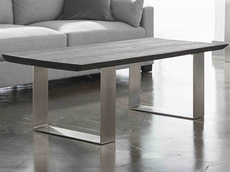 Essential For Living District Brushed Charcoal Oak/ Nickel 55'' Wide Rectangular Coffee Table ESL4622BNICBCO