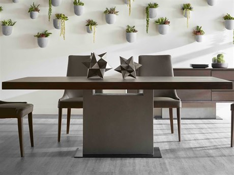 Essential For Living District Espresso/ Slate Grey/ Matte Black 82'' Wide Rectangular Dining Table ESL4600SLAGRYESP