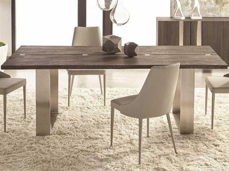 Essential For Living District Brushed Charcoal/ Nickel 86'' Wide Rectangular Dining Table ESL4620BNICBCO