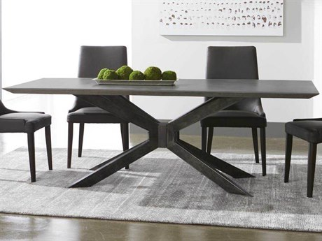 Essential For Living District Ash Grey/ Distressed Black 87'' Wide Rectangular Dining Table ESL4630BLKAGRY