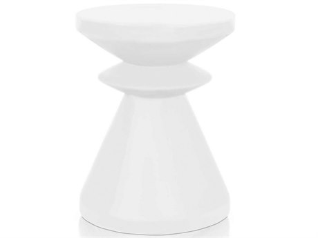 Essential For Living District Ivory 13'' Wide Round Pedestal Table