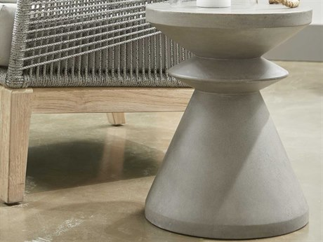 Essential For Living District Slate Grey 13'' Wide Round Pedestal Table
