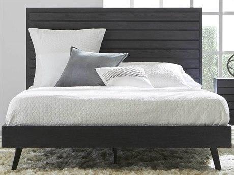 Essential For Living District Carbon Oak/ Distressed Black Queen Platform Bed