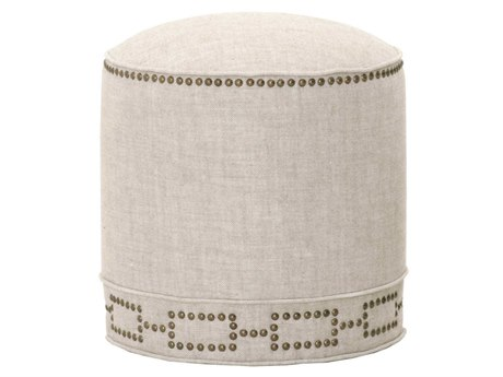 Essentials for Living Bisque Ottoman