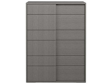 Essential For Living Vivente Forte Matte Grey Oak Eco Veneer 35.5'' x 19'' Six-Drawer Chest of Drawers