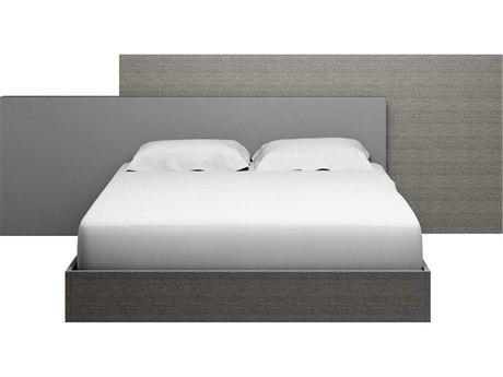 Essential For Living Vivente Forte Matte Grey Oak Eco Veneer Queen Platform Bed