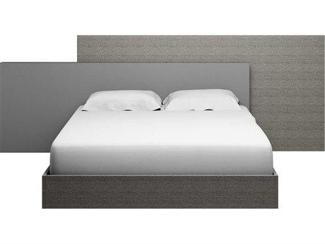 Essential For Living Vivente Forte Matte Grey Oak Eco Veneer California King Platform Bed