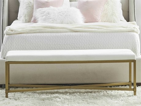 Essentials for Living Heritage Livesmart Peyton-pearl / Brushed Gold Accent Bench ESL6123LPPRLBGLD