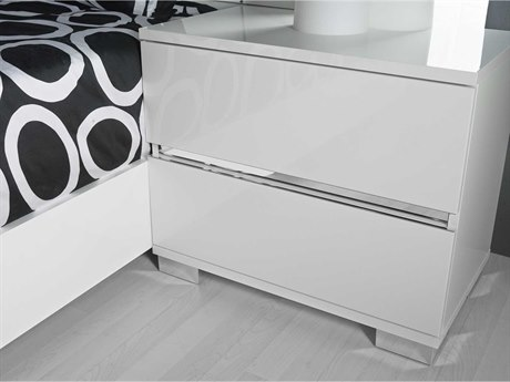 Essential For Living Vivente Icon White High Gloss Acrylic Lacquer 27'' x 16'' Nightstand