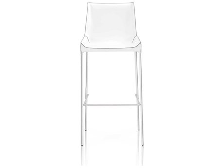 Essential For Living Meridian White/ Grey Edge Bar Height Stool (Set of 2)