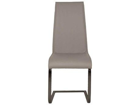 Essential For Living Regis Milo Grey / Black Chrome Dining Side Chair (Set of 2)