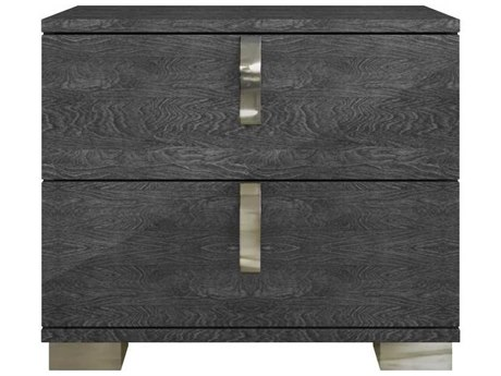 Essential For Living Vivente Noble Grey Birch High Gloss Acrylic Lacquer 27'' x 16'' Nightstand