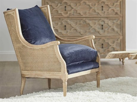 Essentials for Living Patina Navy Velvet / Weathered Accent Chair ESL8213NAVW