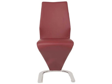 Essential For Living Regis Rio Dark Red / Chrome Dining Side Chair (Set of 2) ESL3624SYNDKRED