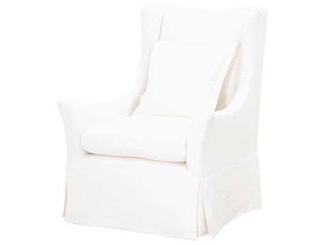Essentials for Living Stitch & Hand Cream Crepe Swivel Accent Chair