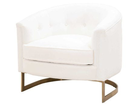 Essentials for Living Stitch & Hand Livesmart Peyton-pearl / Brushed Brass Accent Chair