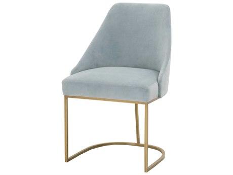 Essentials for Living Traditions Coastal Velvet / Brushed Gold Side Dining Chair (Set of 2) ESL6011COABGLD
