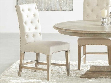 Essentials for Living Traditions Stone / Natural Gray Side Dining Chair (Set of 2) ESL6027NGSTOSLV