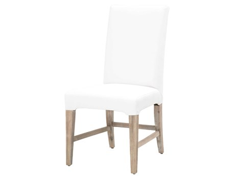 Essentials for Living Traditions White / Natural Gray Side Dining Chair (Set of 2)