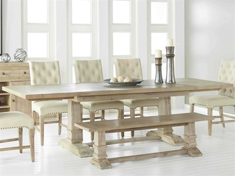 Essentials for Living Traditions Stone Wash 78-110'' Wide Rectangular Dining Table
