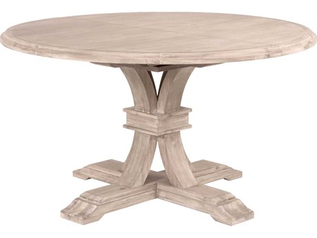 Essentials for Living Traditions Natural Gray 54-72'' Wide Round Dining Table