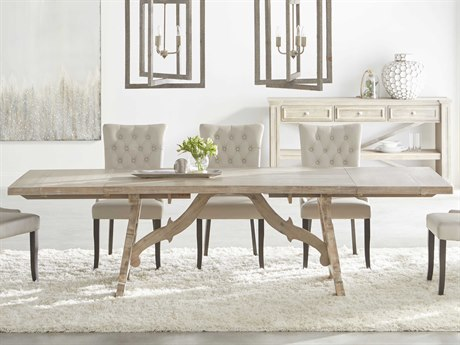 Essentials for Living Traditions Natural Gray 78-110'' Wide Rectangular Dining Table