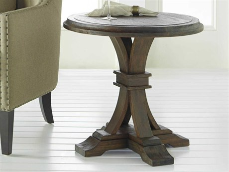 Essentials for Living Traditions Rustic Java 25'' Wide Round Pedestal Table