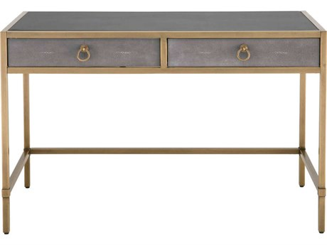 Essentials for Living Traditions Gray Shagreen, Brushed Gold Secretary Desk