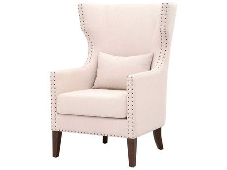 Essentials for Living Villa Oatmeal / Espresso Accent Chair ESL7116UPOAT