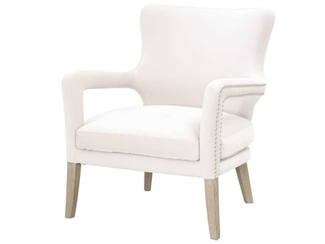 Essentials for Living Villa Cream Velvet / Natural Gray Accent Chair
