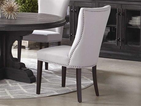 Essentials for Living Villa Light Gray / Espresso Side Dining Chair (Set of 2)