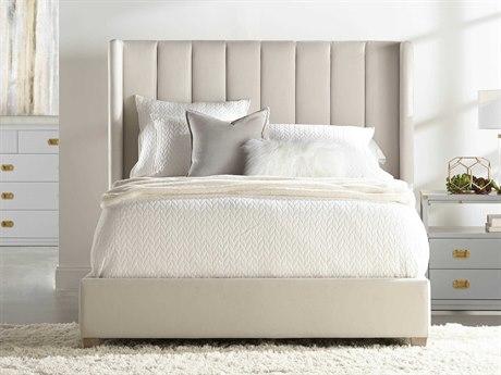Essentials for Living Villa Cream Velvet / Natural Gray California King Platform Bed