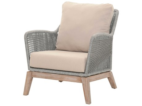 Essentials for Living Woven Platinum, Light Gray / Stone Wash Accent Chair ESL6817PLALGRY