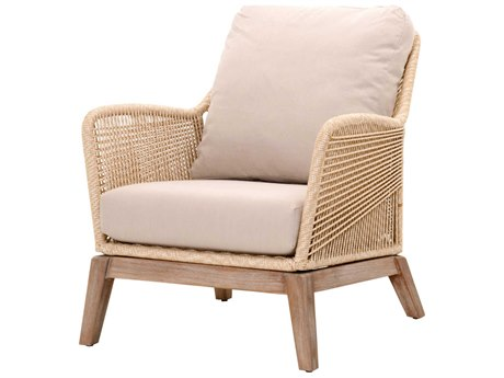 Essentials for Living Woven Sand, Light Gray / Stone Wash Accent Chair ESL6817SNDLGRY