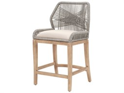 Woven Platinum, Light Gray / Stone Wash Side Counter Height Stool