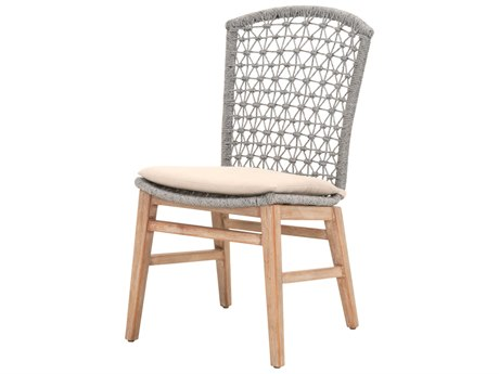 Essentials for Living Woven Platinum, Light Gray / Stone Wash Side Dining Chair (Set of 2)