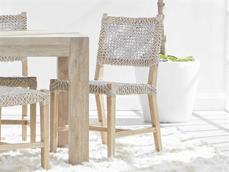 Essentials for Living Woven Taupe & White / Natural Gray Side Dining Chair (Set of 2)