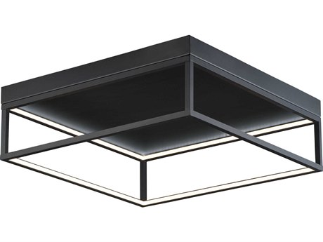 ET2 4 Square Black 20'' Wide LED Flush Mount Light ET2E30598BK