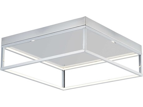 ET2 4 Square Polished Chrome 20'' Wide LED Flush Mount Light ET2E30598PC