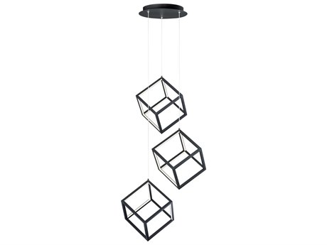 ET2 4 Square Black 11'' Wide LED Mini Pendants ET2E30587BK